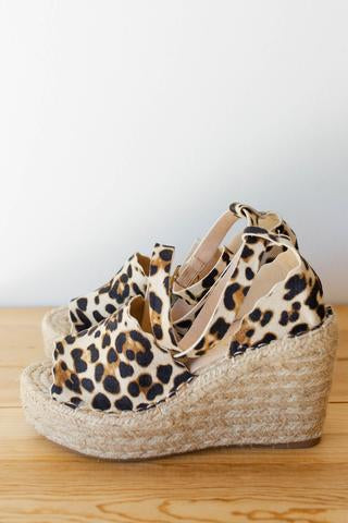 women's animal print wedges
