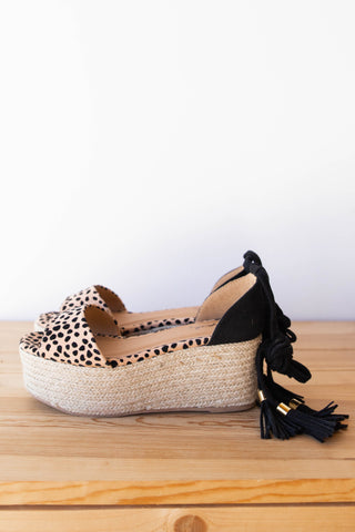 women's animal print platforms