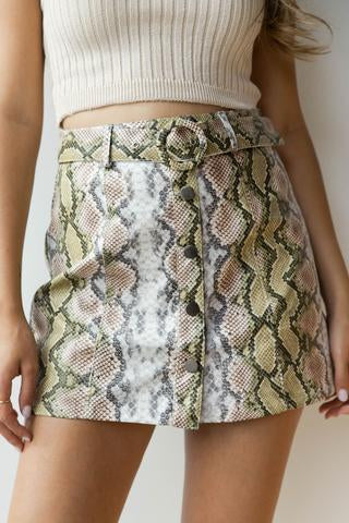 women's snake skin bottoms