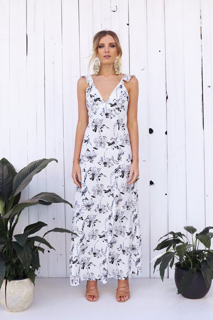 mode, oracle maxi dress