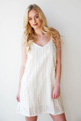 [shop name], frayed all around dress