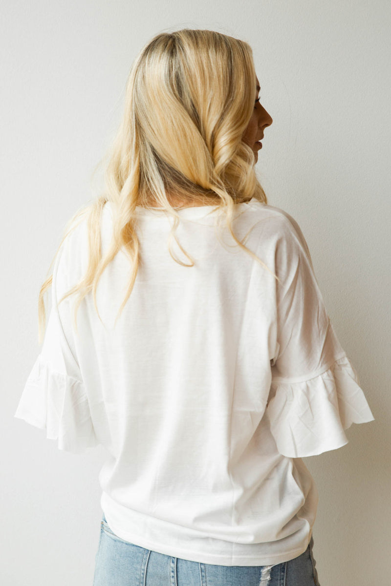 mode, Next up ruffle sleeve tee