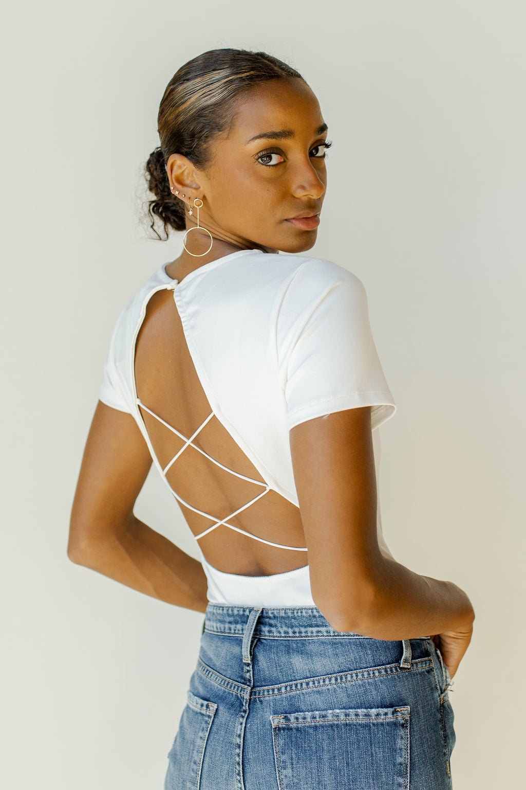 don't look back strappy bodysuit