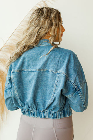 starburst denim dye jacket