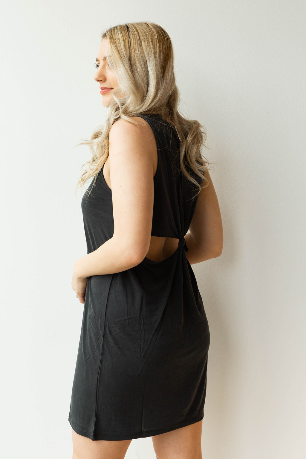 mode, dear John open back dress