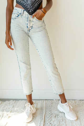 high rise raw hem crop skinny