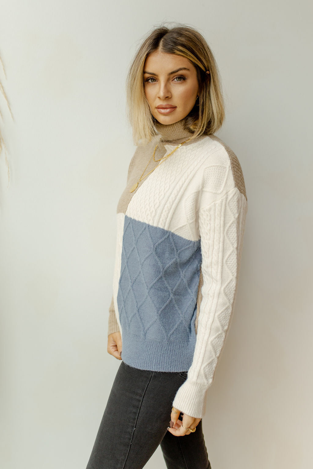 building block sweater
