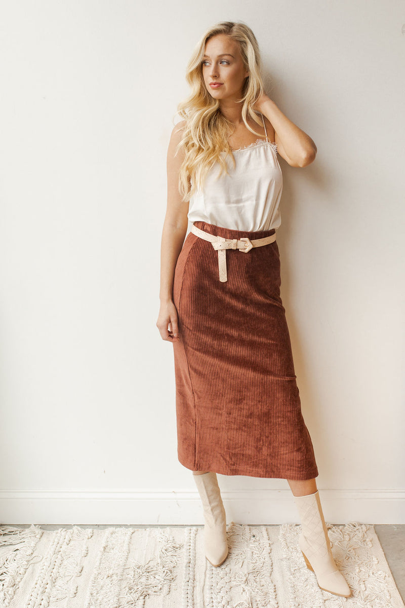 mode, helen rib tube skirt