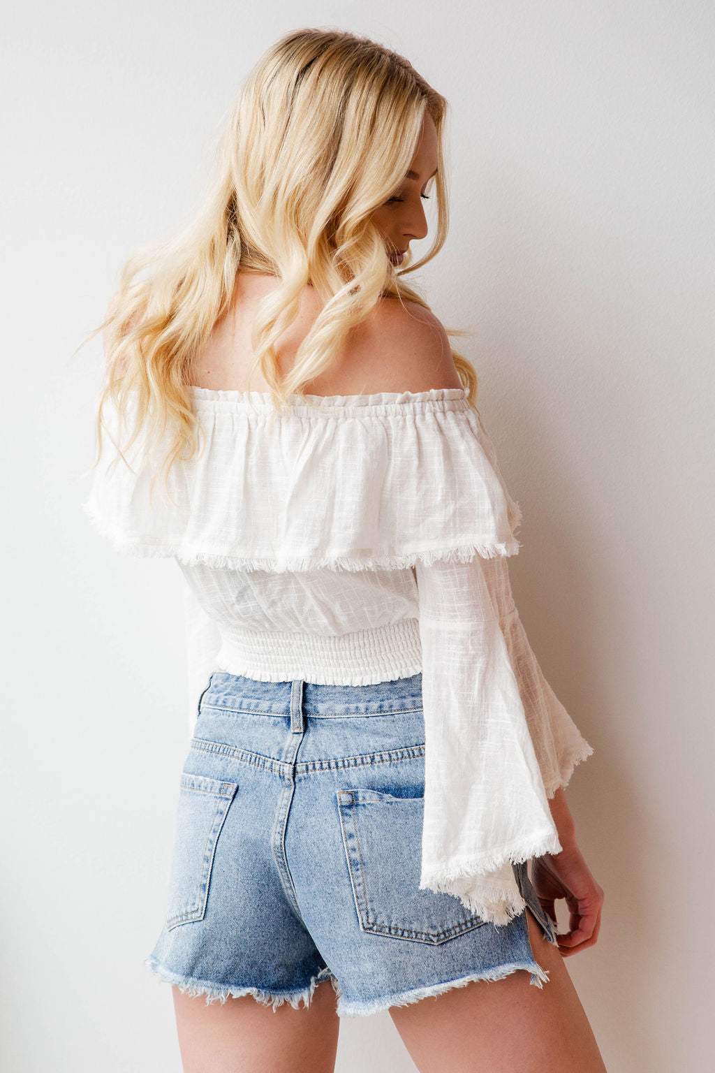 mode, self love cinched waist top