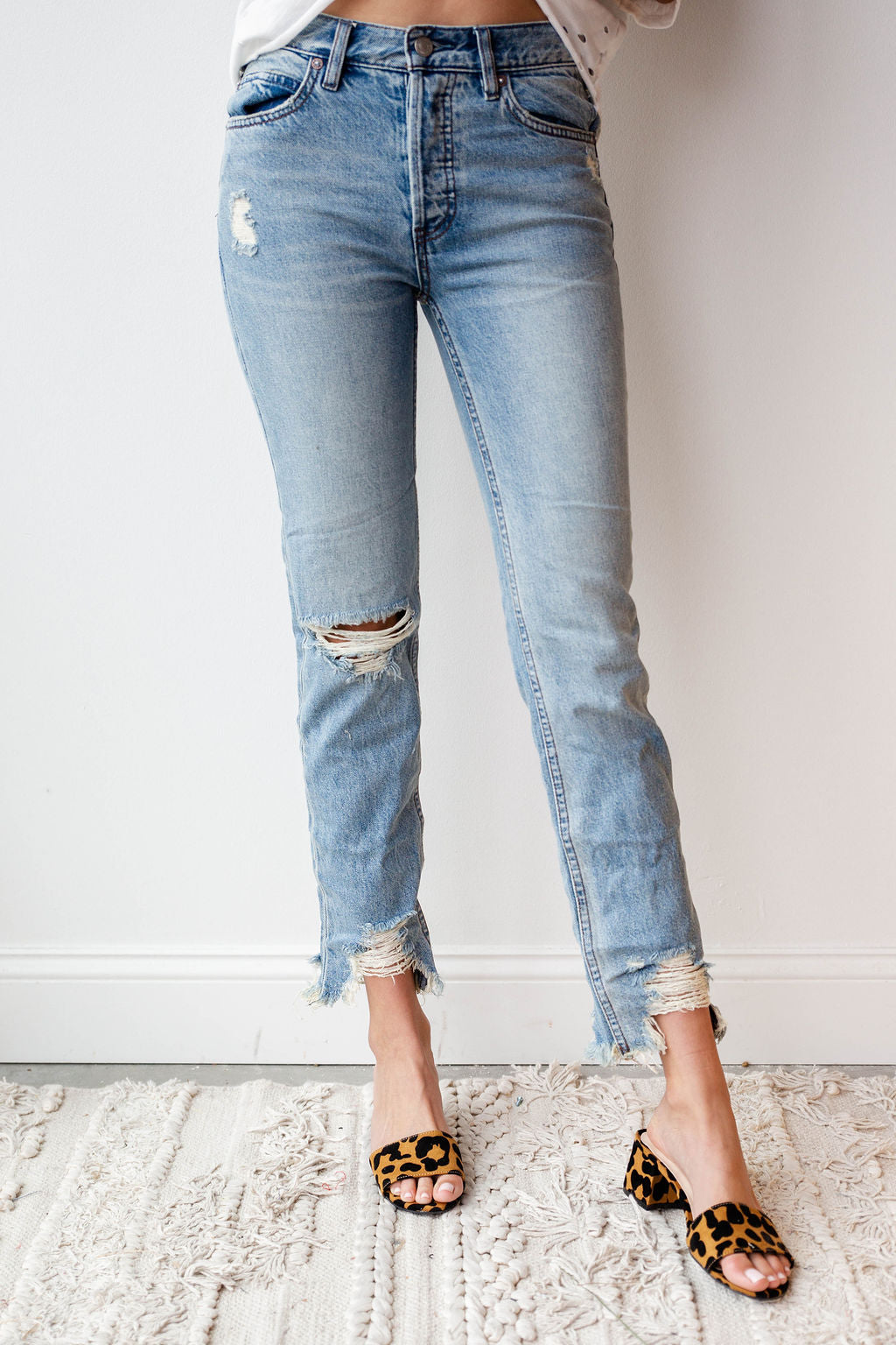 [shop name], chewed up midrise straight jean