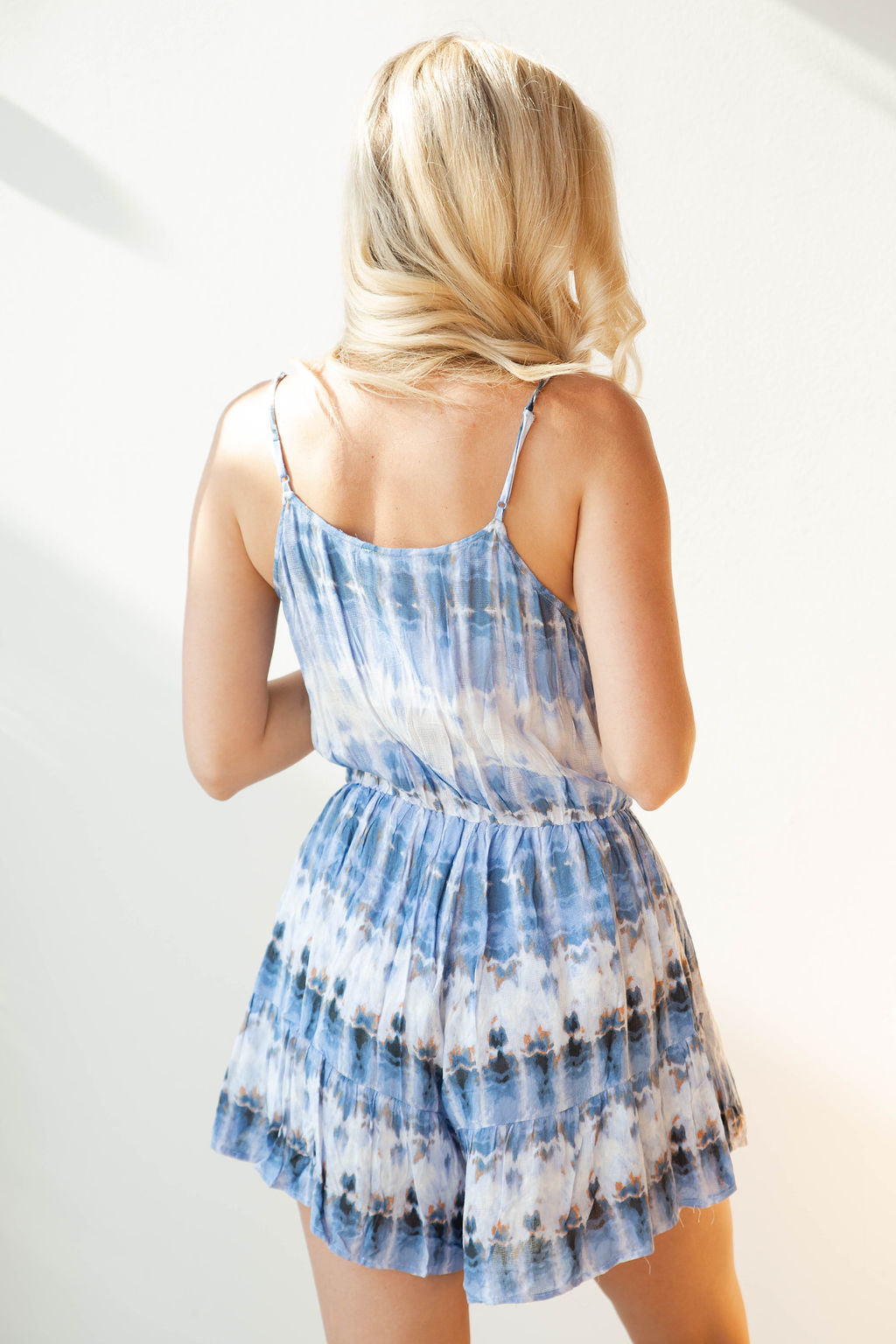 mode, ocean blues romper
