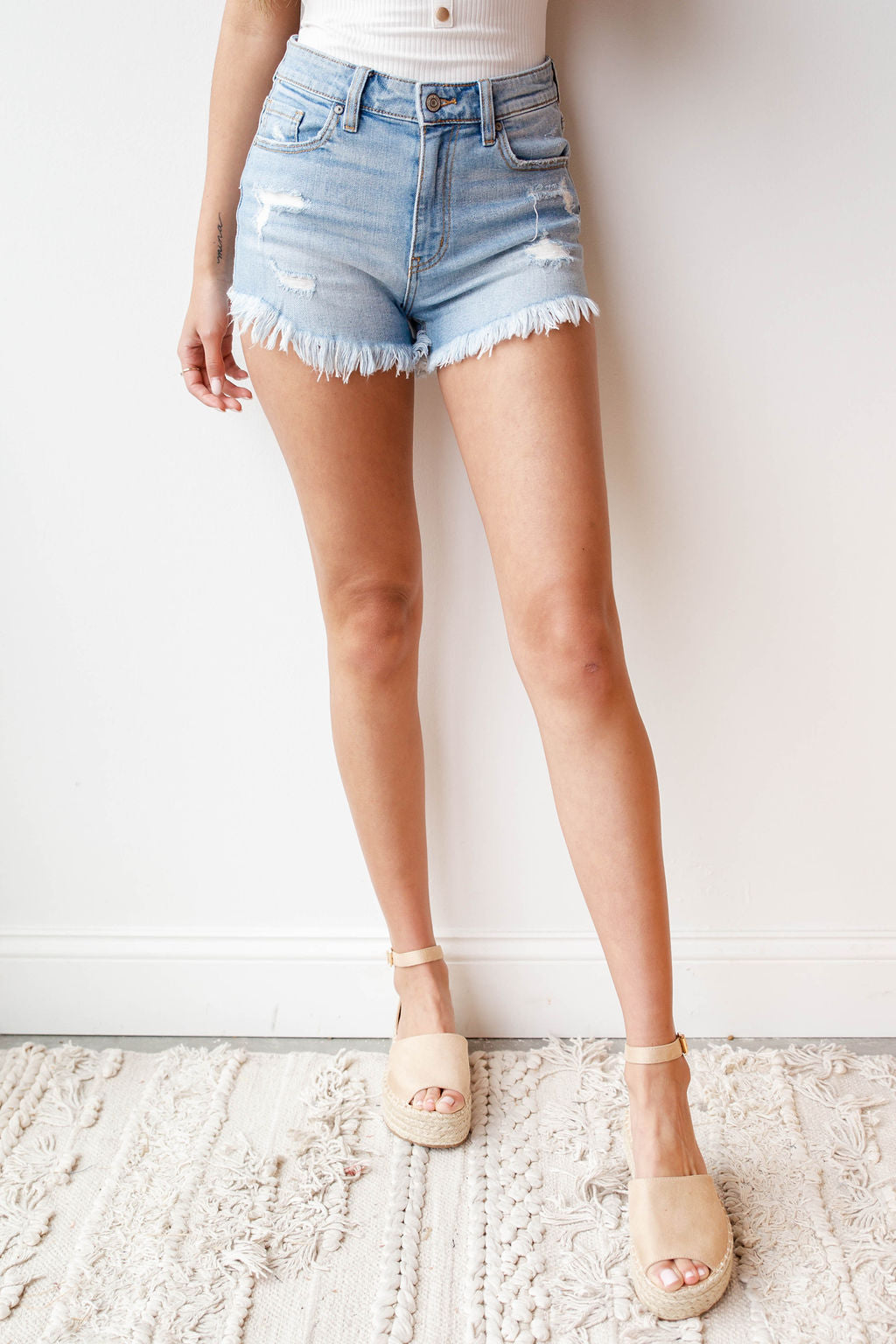 Lulu high rise cut offs