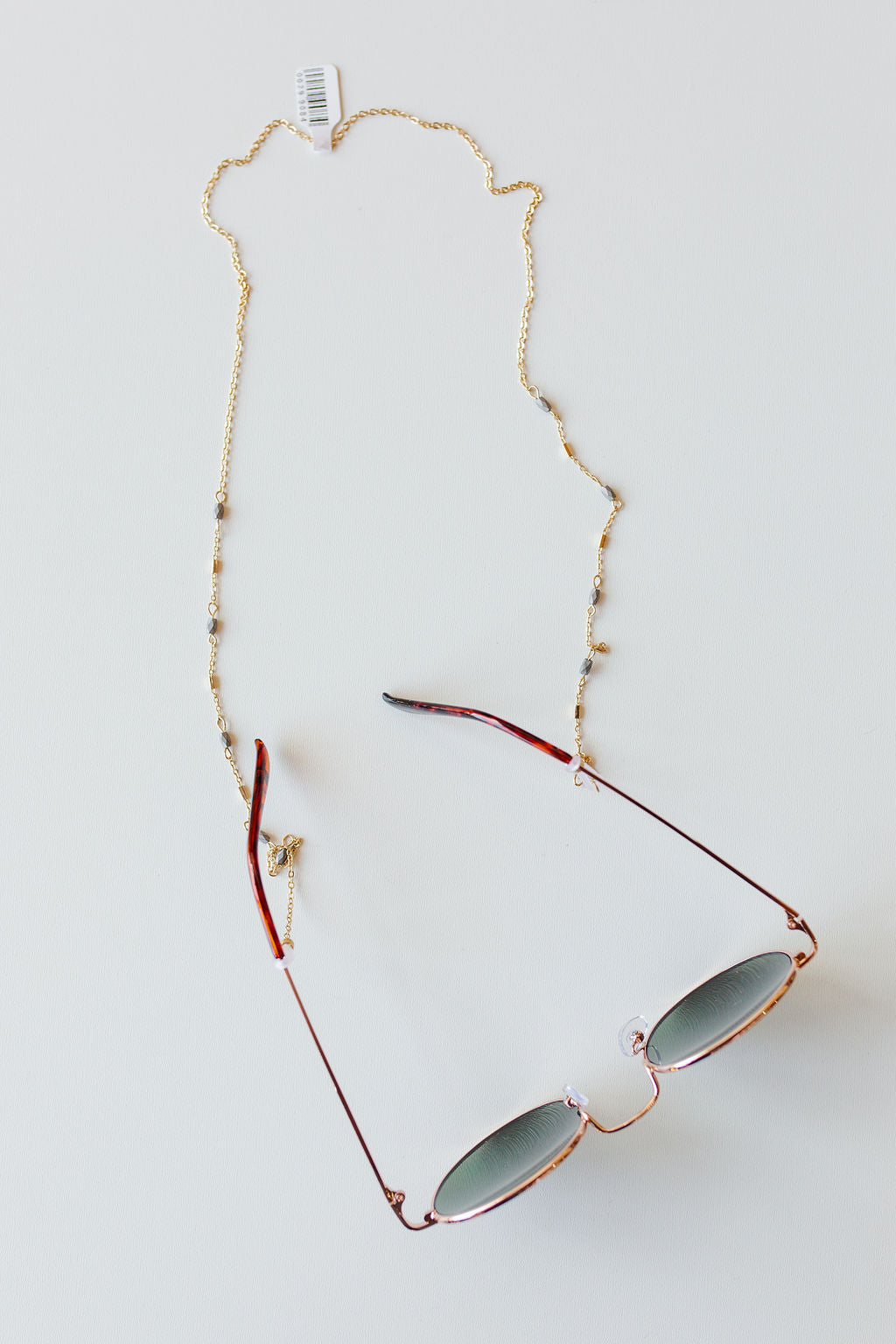 mode, bead link sunglass chain