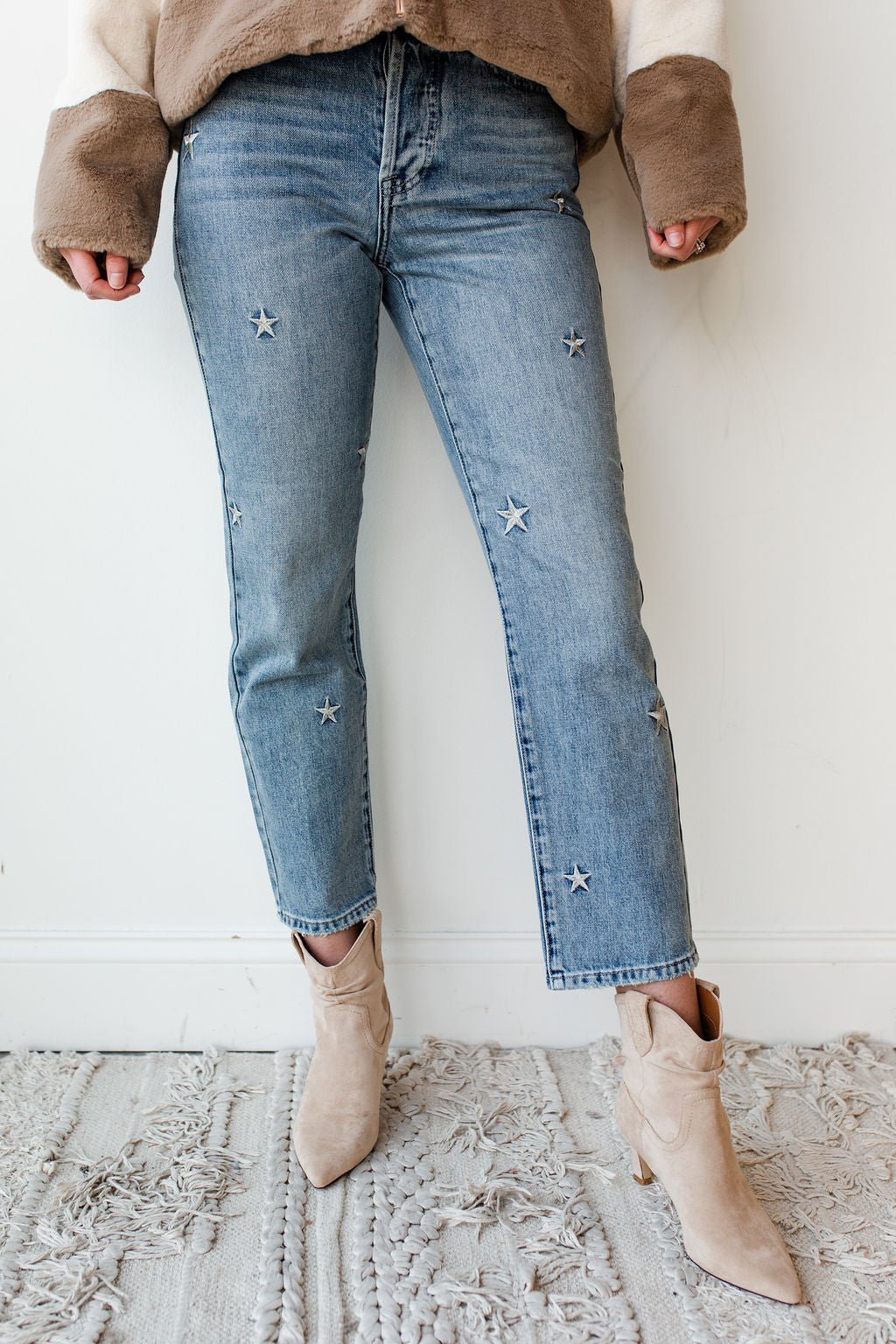 mode, Charlie star embroidery high rise denim