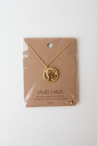 secret box golden heart necklace