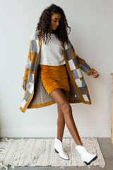 mode, mustard mix sweater