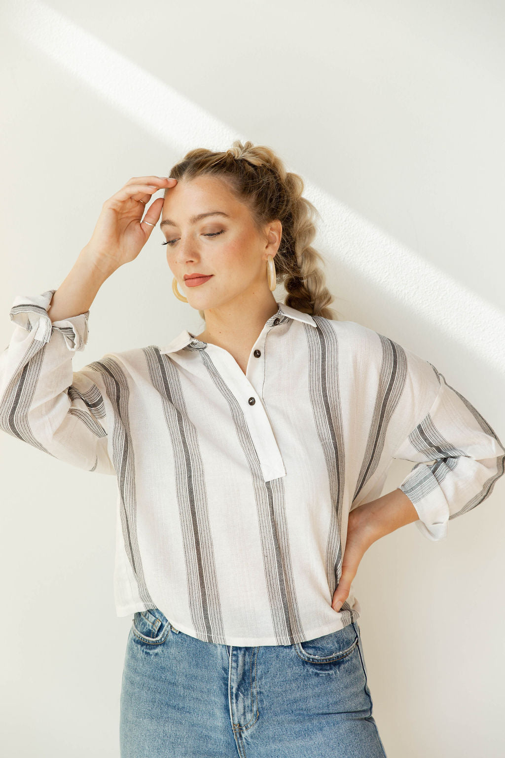 mode, Melt away linen blouse