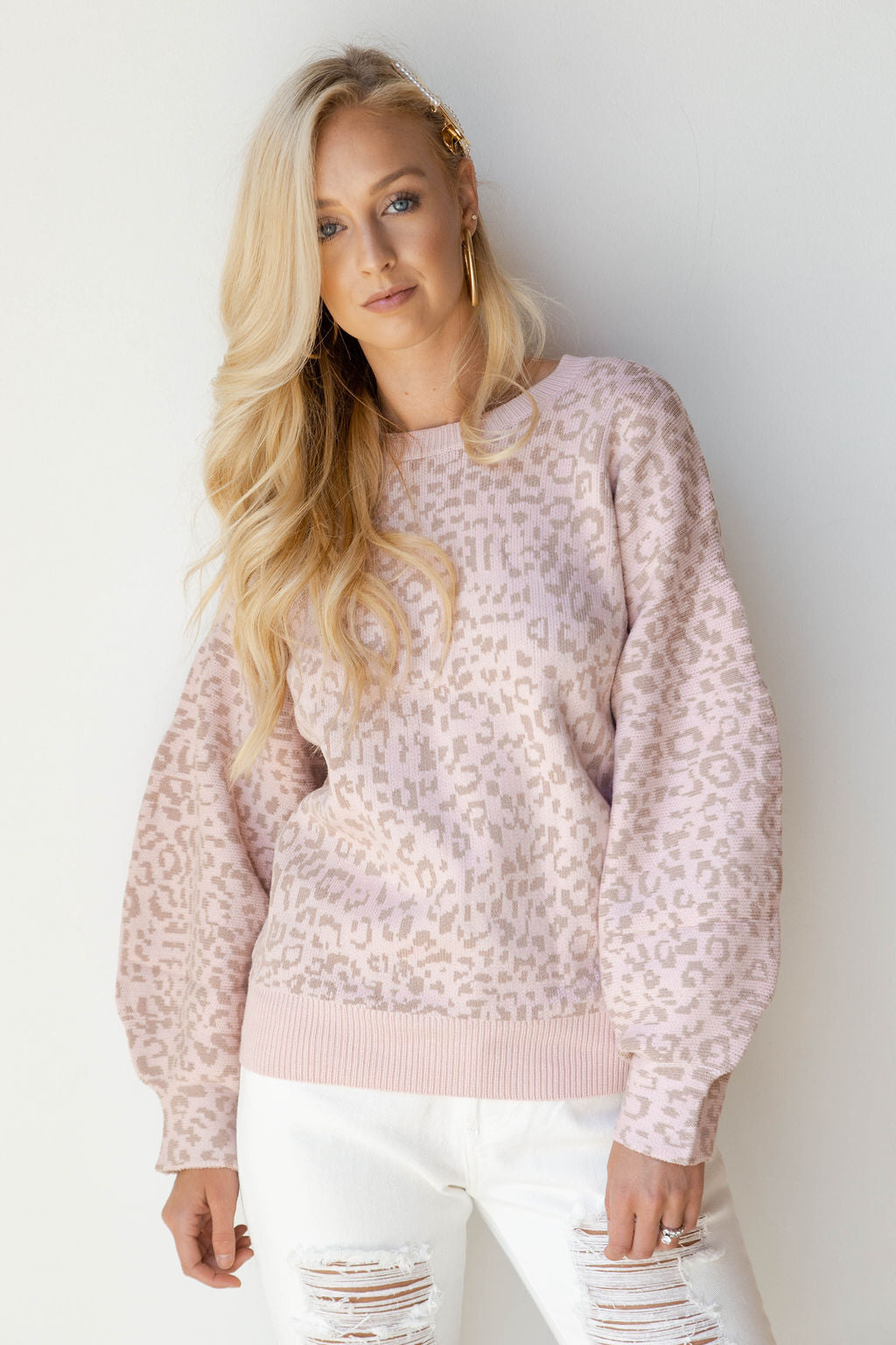 mode, cozy mornings print sweater