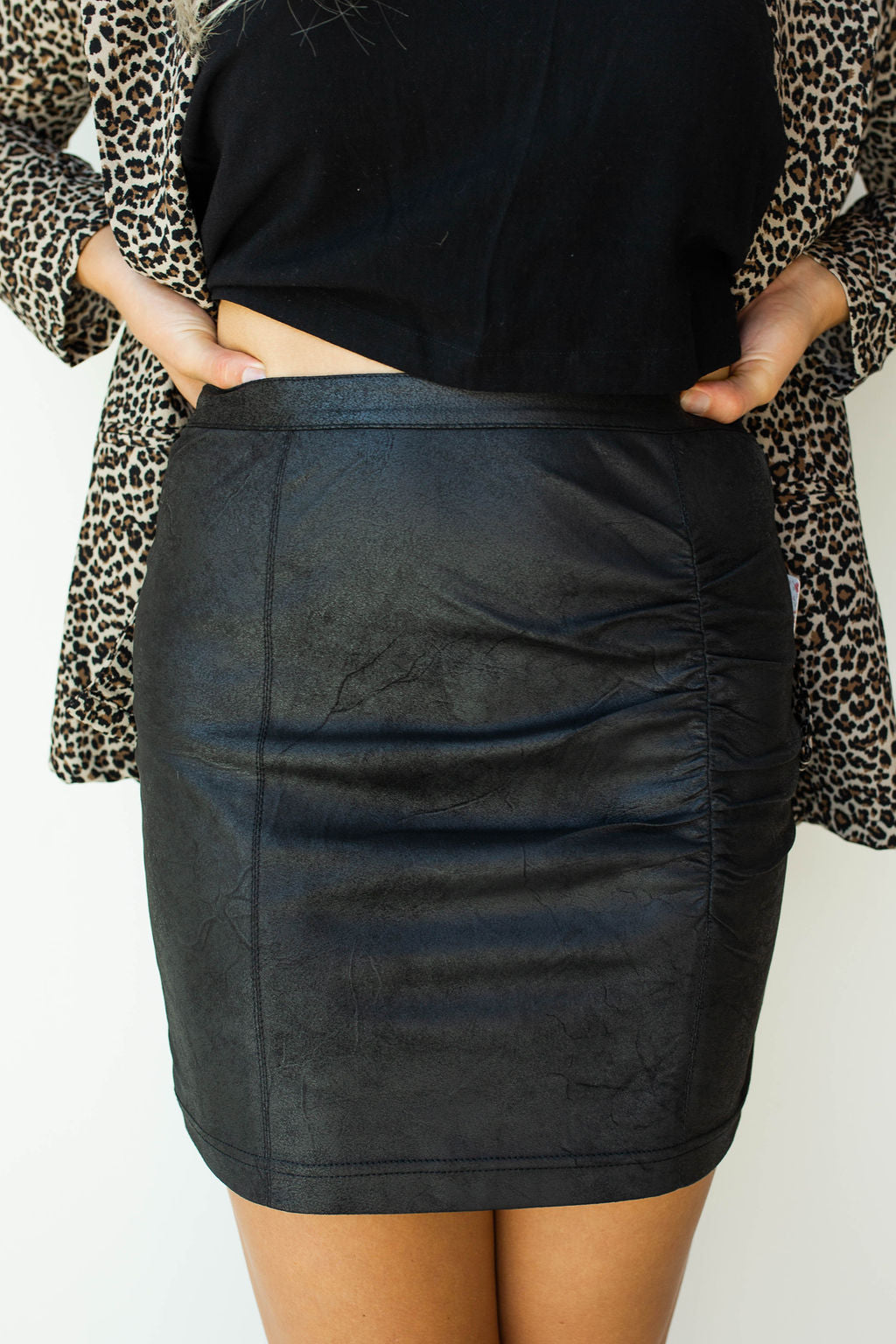 mode, rumi ruched mini skirt