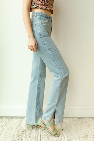 side slit denim