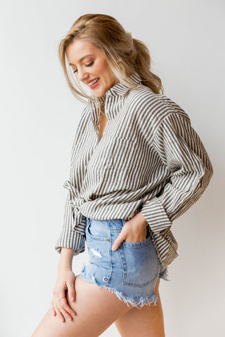 [shop name], easy breezy oversized button up