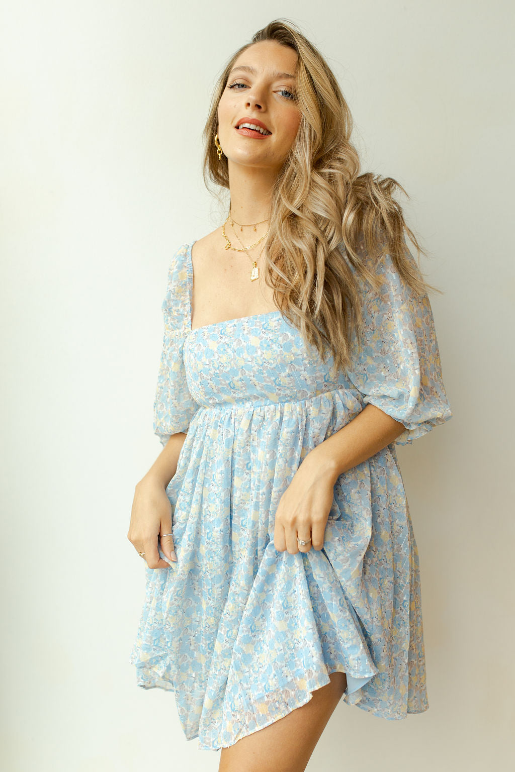 baby blues floral dress
