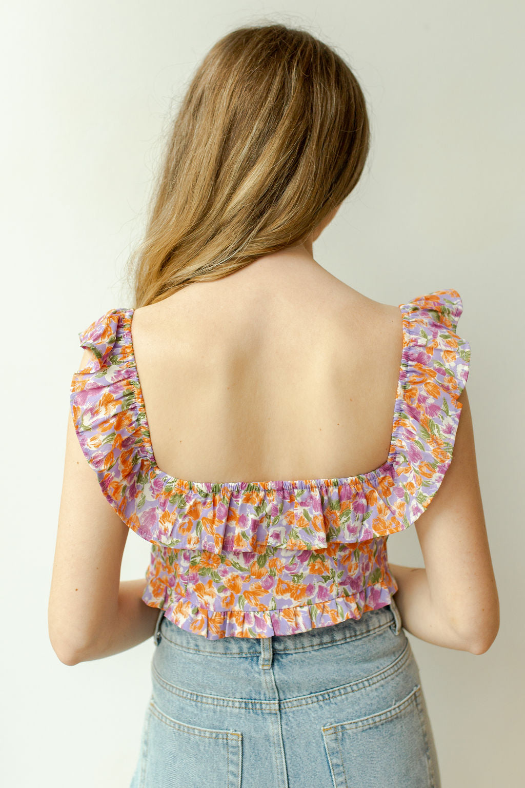 flourish off shoulder crop