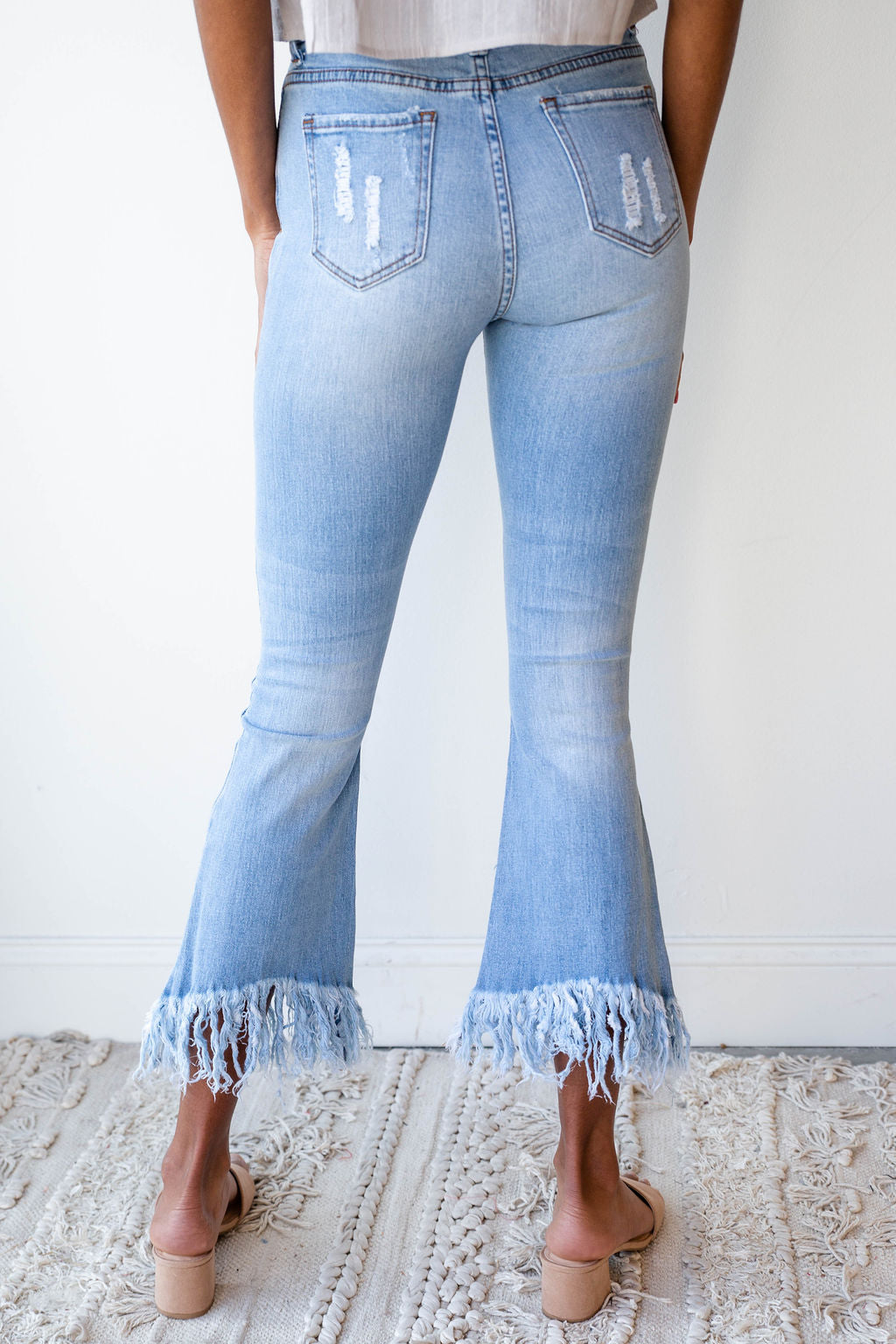 mode, something extra fringe denim