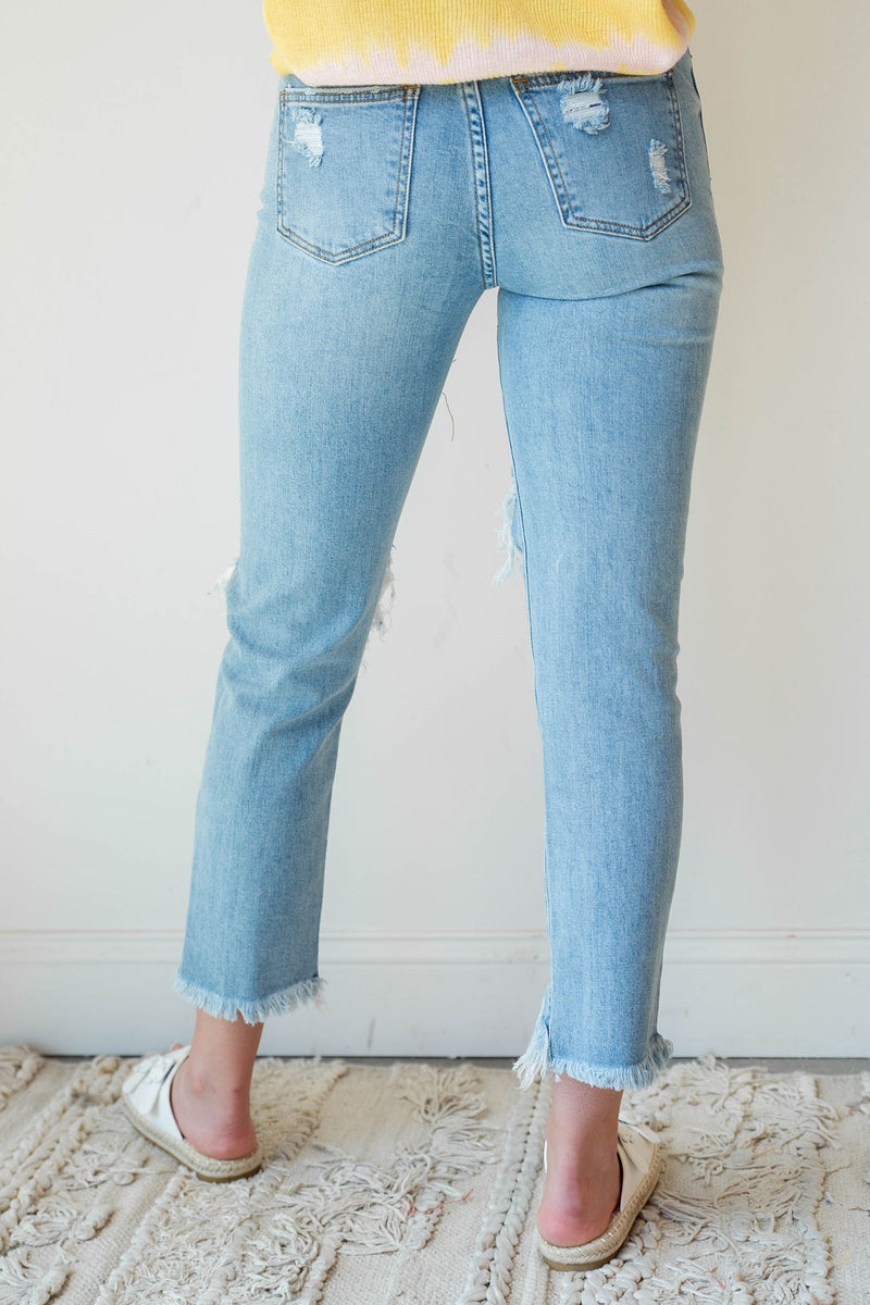 mode, overcomer distressed denim
