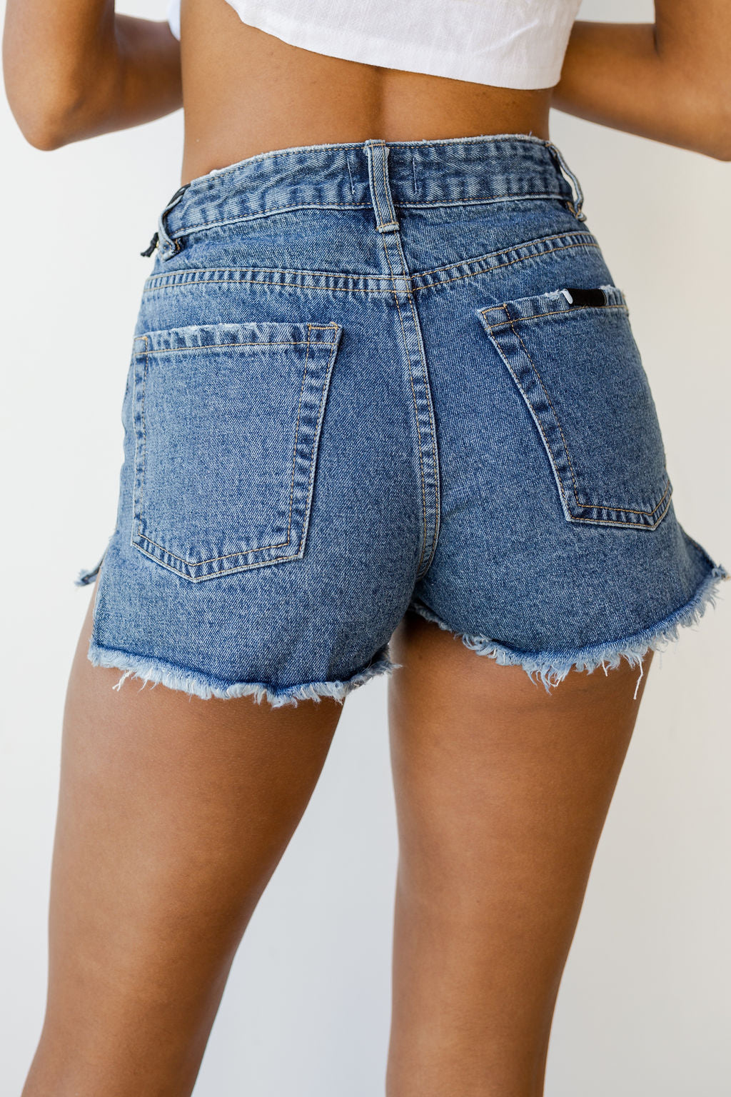 mode, shoreline denim shorts