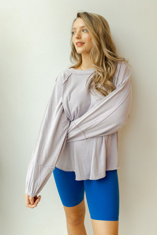 comfy days terry knit long sleeve