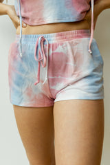 mode, sweets tie dye shorts (set)