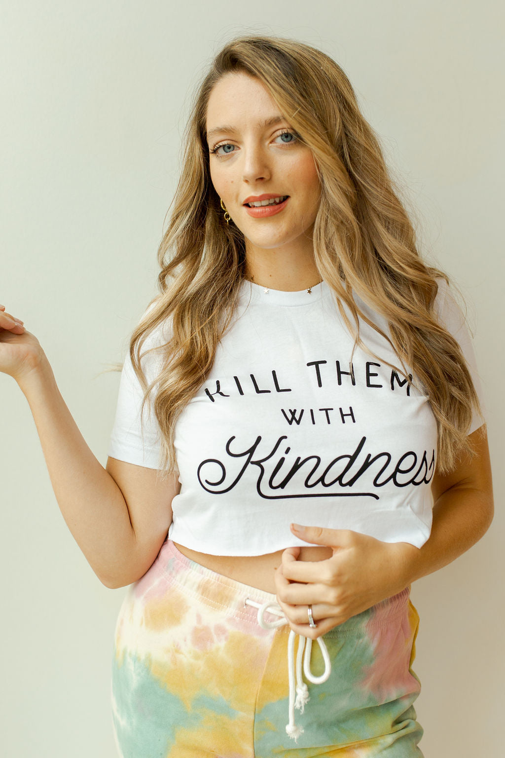 kill them with kindness crop tee