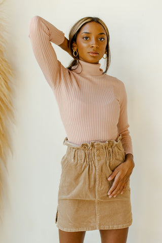 rib knit turtle neck bodysuit
