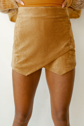 pure joy cord mini skort