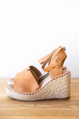 mode, walk this way wedge sandal