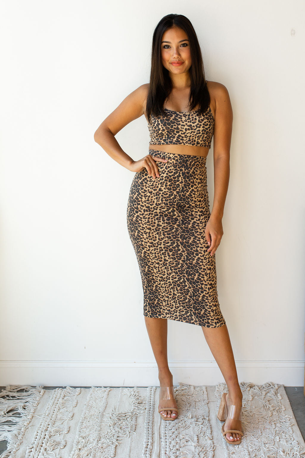 mode, saints stretchy two piece set (top)