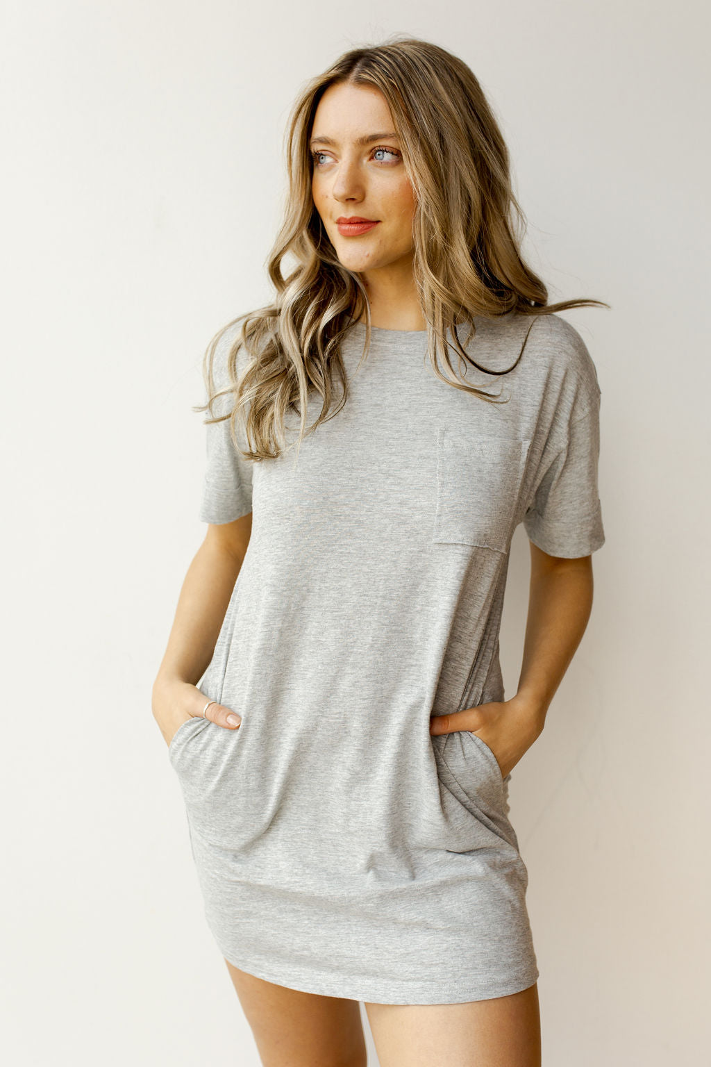 mode, pocket tee dress