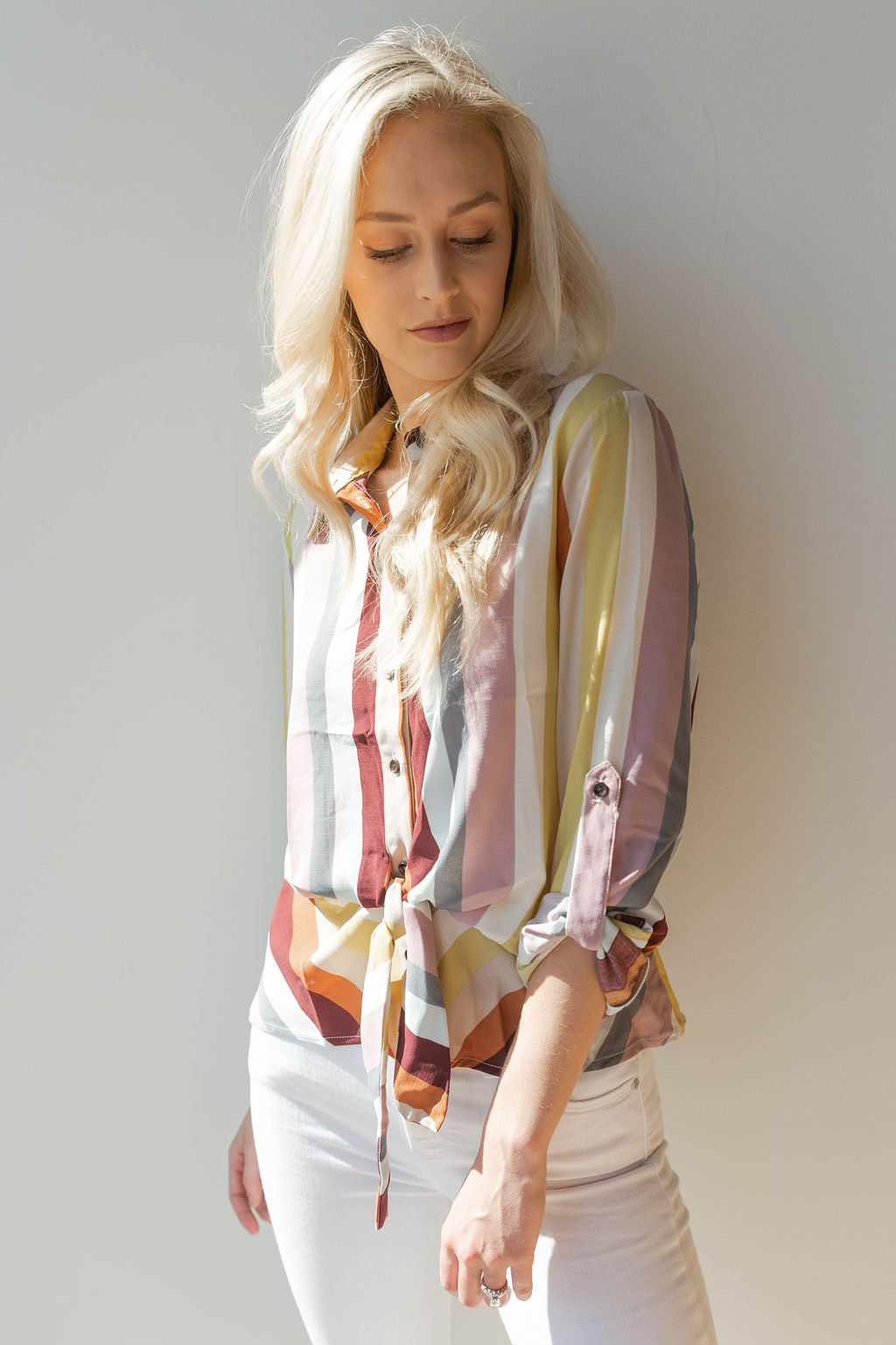 mode, of the rainbow blouse