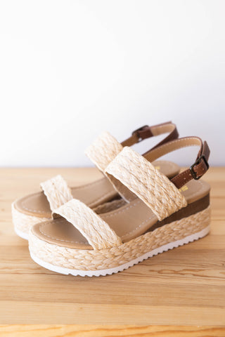 wonderfully woven wedge sandal