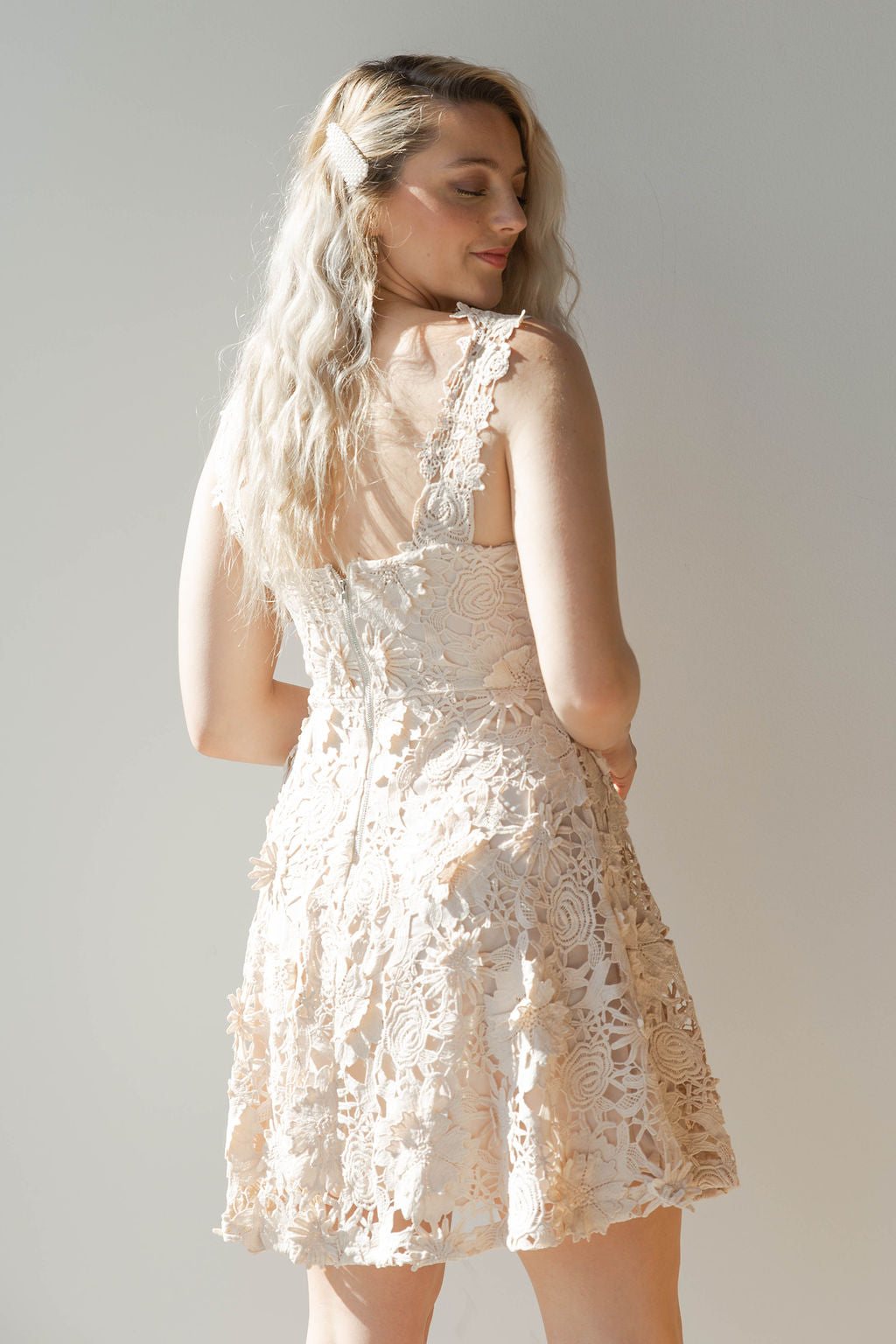 a84687ec21b floral lace mini dress – mode