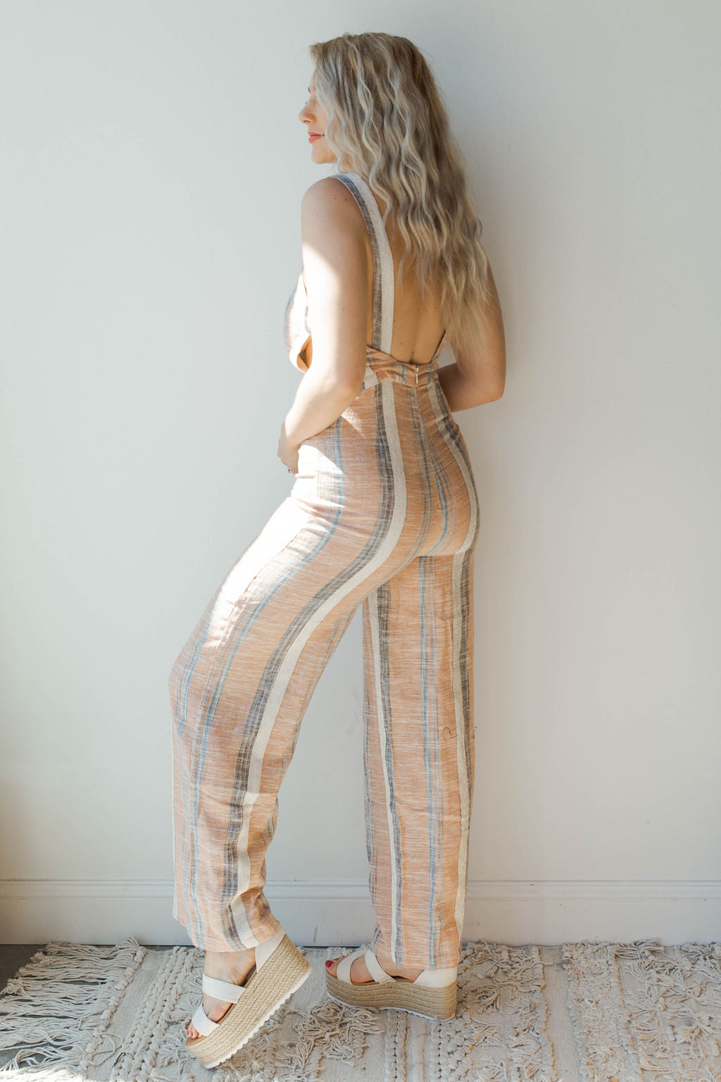 mode, joyful stripe jumpsuit