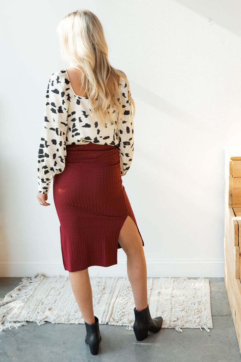 mode, name of the game ribbed pencil skirt