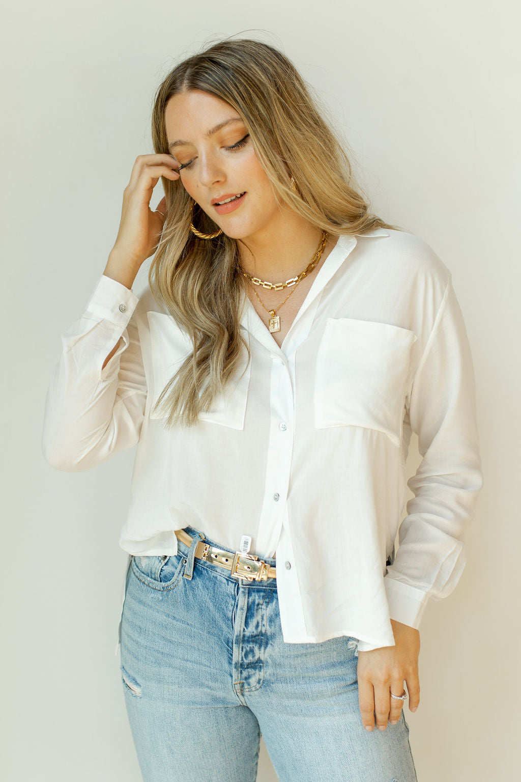 relax a little button down shirt