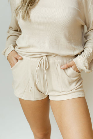 hang out waffle knit set (shorts)