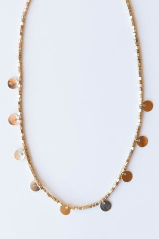 blocks + circles necklace