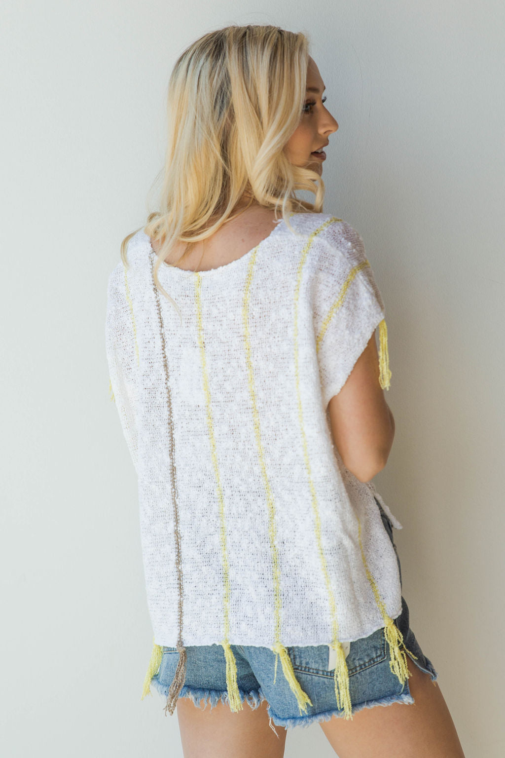 mode, sunburst poncho top