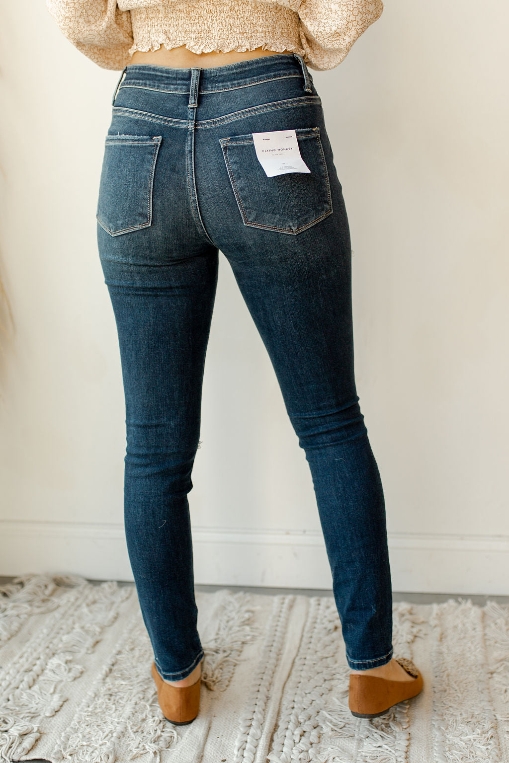 believe it high rise distressed skinny