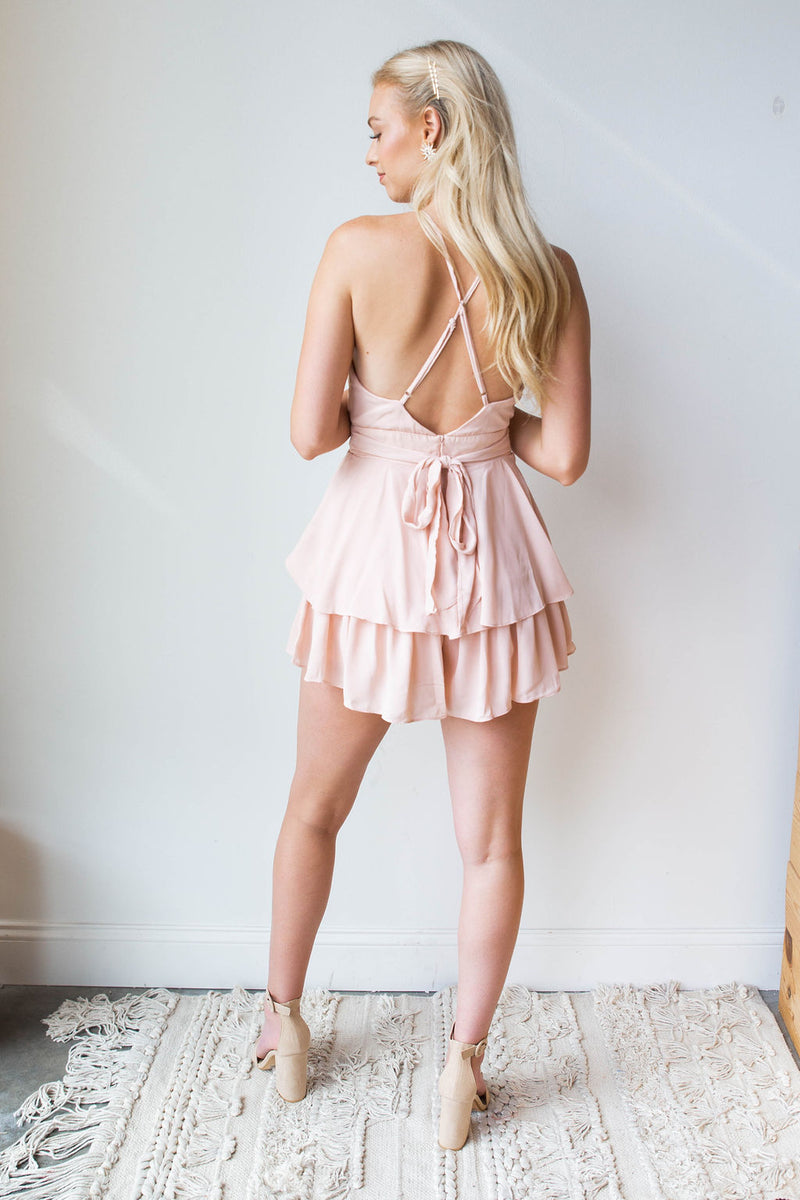 mode, blushing romper