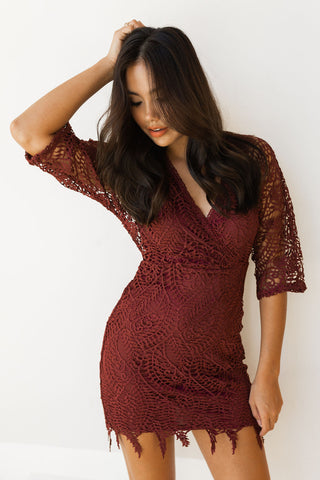 mode, all over lace midi dress